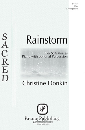 Rainstorm : SSA : Christine Donkin : Christine Donkin : Sheet Music : 00125010 : 884088986476