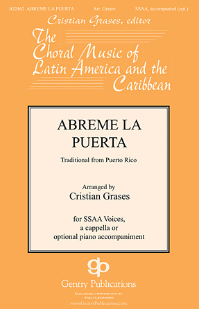 Abreme La Puerta : SSAA : Cristian Grases : Sheet Music : 00126562 : 888680004309