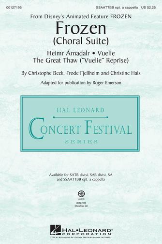 Frozen (Choral Suite) : SSAATTBB : Roger Emerson : Frode Fjellheim : Frozen : Sheet Music : 00127195 : 888680007959
