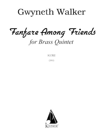 Product Cover for Fanfare Among Friends for Brass Quintet, Full Score
