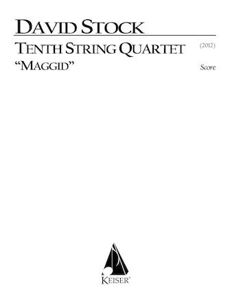 Product Cover for String Quartet No. 10 - Full Score