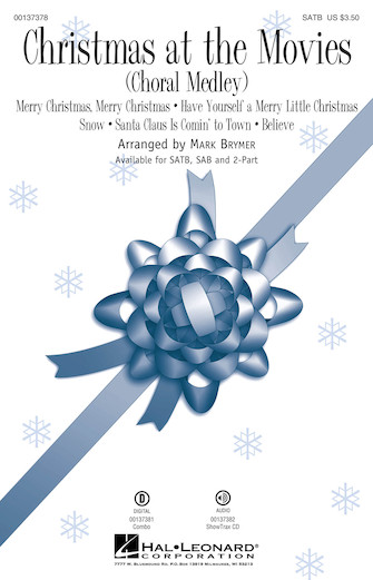 Christmas at the Movies : SATB : Mark Brymer : Sheet Music : 00137378 : 888680027148