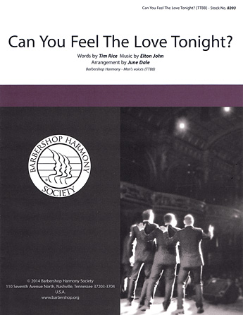 Can You Feel the Love Tonight? : TTBB : June Dale : Elton John : The Lion King : Sheet Music : 00137946 : 812817020313