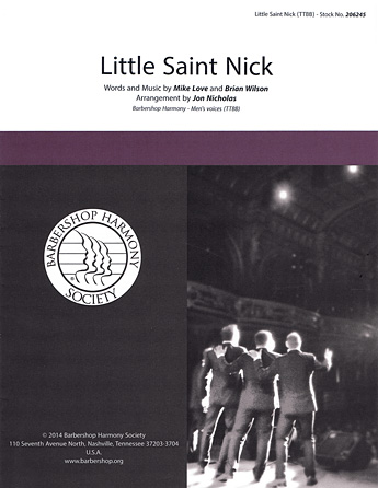 Little Saint Nick : TTBB : Jon Nicholas : Brian Wilson : The Beach Boys : Sheet Music : 00137953 : 812817020283