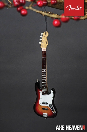 Product Cover for Fender Sunburst Jazz Bass – 6″ Holiday Ornament