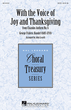Product Cover for With the Voice of Joy and Thanksgiving