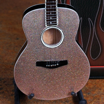 Product Cover for Acoustic Guitar with Glitter Rhinestone Finish