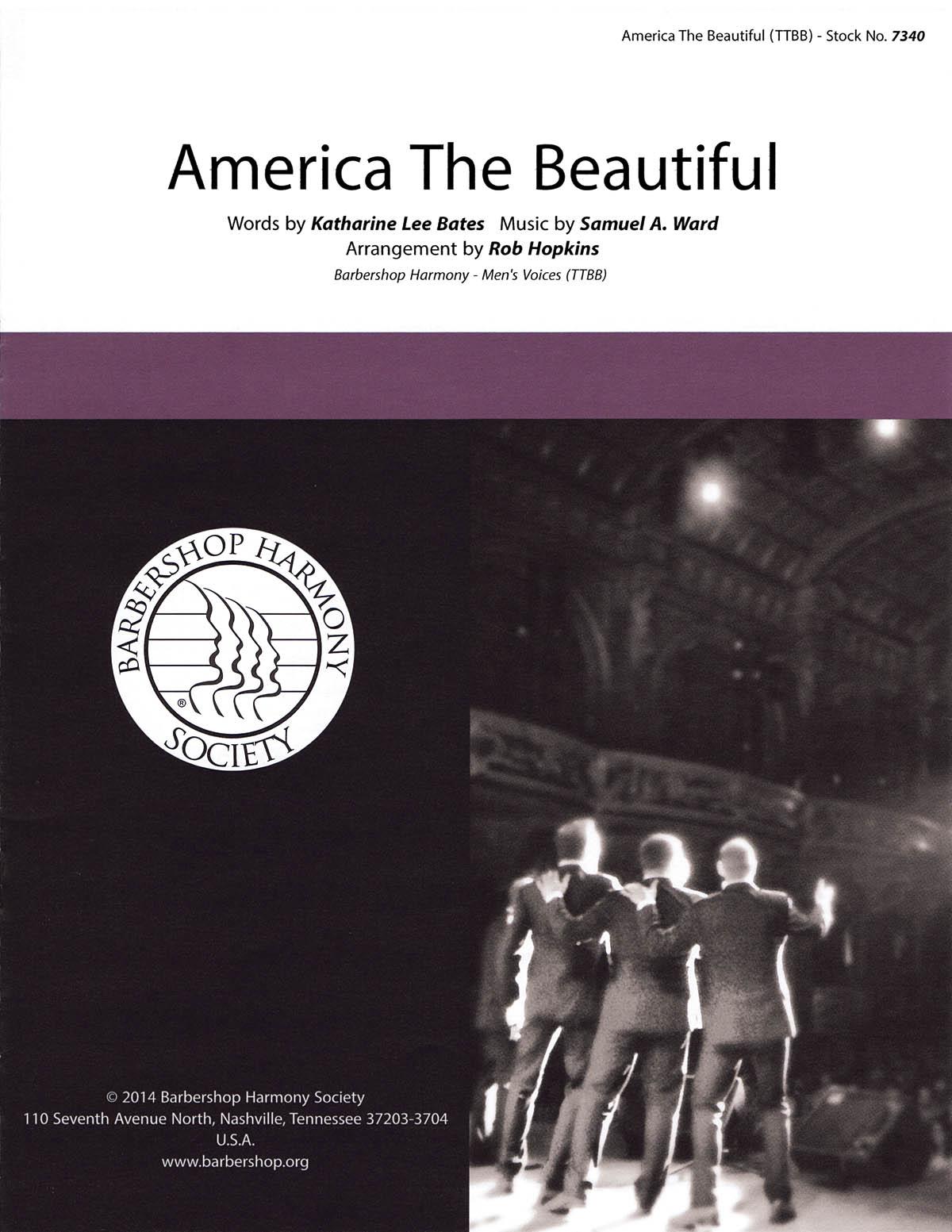 America, The Beautiful : TTBB : Rob Hopkins : Samuel A. Ward : Sheet Music : 00141986 : 812817020085