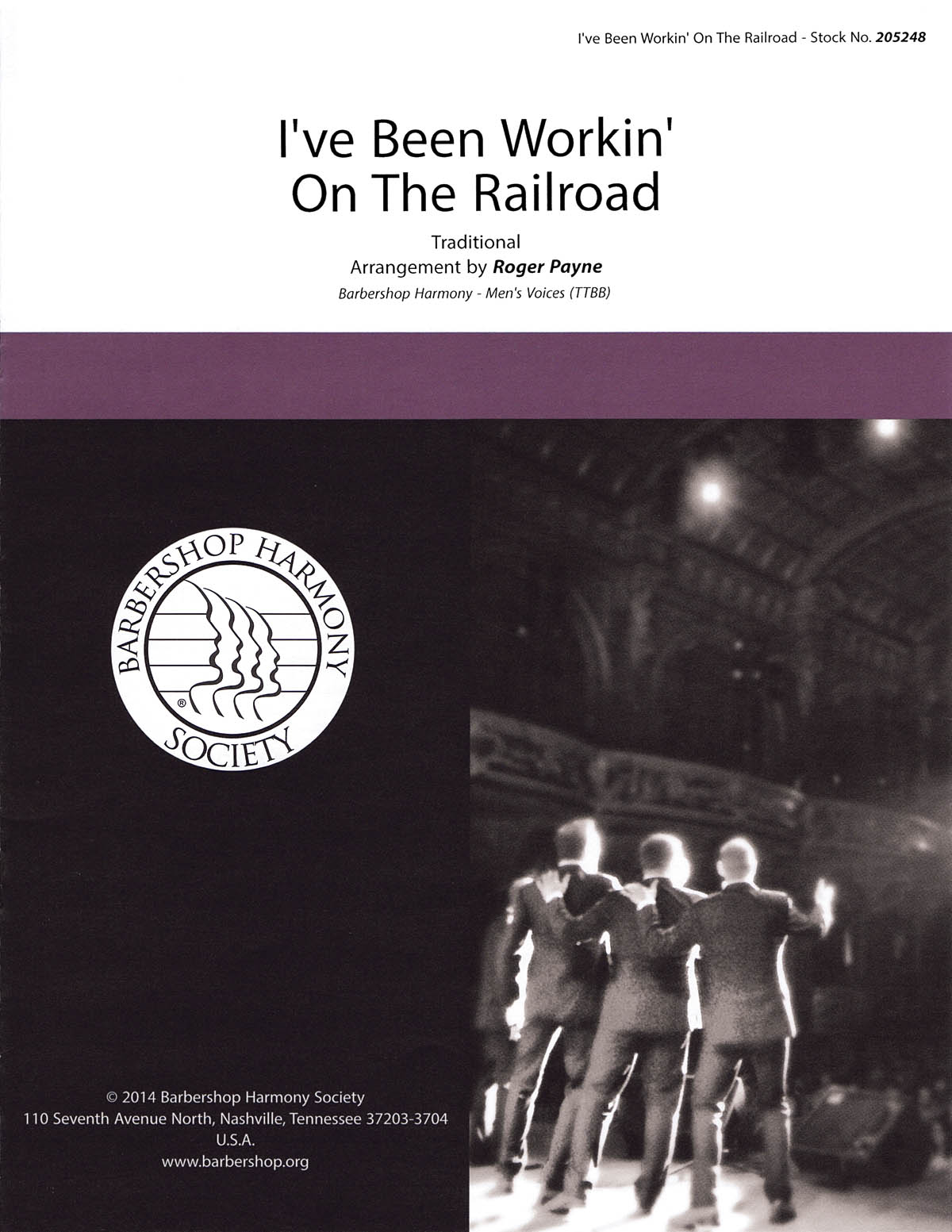 I've Been Working on the Railroad : TTBB : Roger Payne : DVD : 00141989 : 812817020139