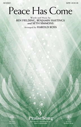 Peace Has Come : SATB : Harold Ross : Seth Simmons : Hillsong United : Sheet Music : 00143521 : 888680056582