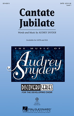 Cantate Jubilate : SATB : Audrey Snyder : Audrey Snyder : Sheet Music : 00143613 : 888680059224