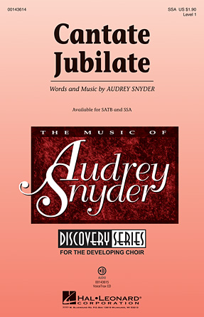 Cantate Jubilate : SSA : Audrey Snyder : Audrey Snyder : Sheet Music : 00143614 : 888680059231