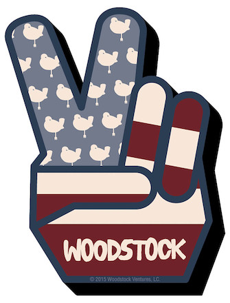 Woodstock Peace – Chunky Magnet
