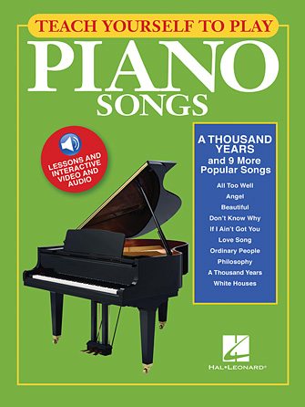 """Product Cover for Teach Yourself to Play Piano Songs: """"A Thousand Years"""" & 9 More Popular Songs"""