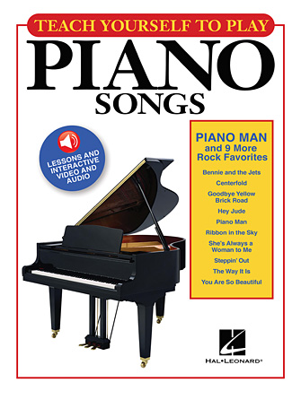 "Product Cover for Teach Yourself to Play Piano Songs: ""Piano Man"" & 9 More Rock Favorites"