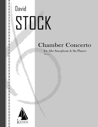 Product Cover for Chamber Concerto for Saxophone and Six Players - Full Score
