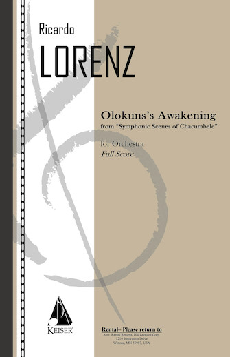 Product Cover for Olokun's Awakening from 'Symphonic Scenes of Chacumbele' for Orchestra - Full Score