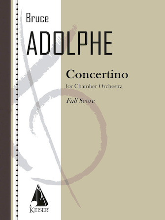 Product Cover for Concertino for Chamber Orchestra - Full Score