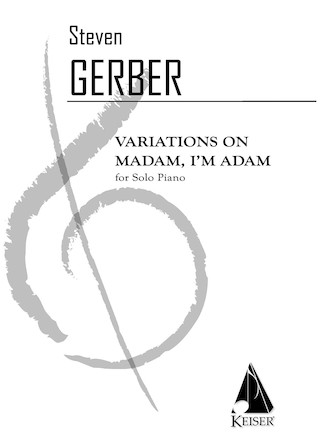 Product Cover for Variations on Madam I'm Adam for Solo Piano