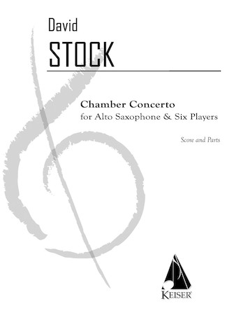 Product Cover for Chamber Concerto for Saxophone and Six Players - Score and Part