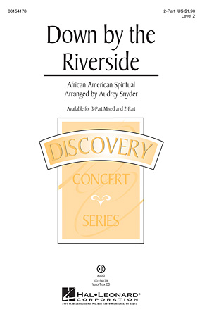 Down by the Riverside : 2-Part : Audrey Snyder : Sheet Music : 00154178 : 888680098698