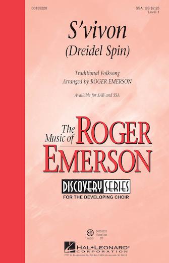 S'vivon (Dreidel Spin) : SSA : Roger Emerson : Sheet Music : 00155220 : 888680104818