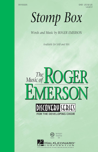 Stomp Box : SAB : Roger Emerson : Roger Emerson : Sheet Music : 00155225 : 888680104917