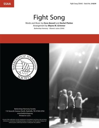 Fight Song : SSAA : Wayne Grimmer : Rachel Platten : Sheet Music : 00155683 : 812817020962