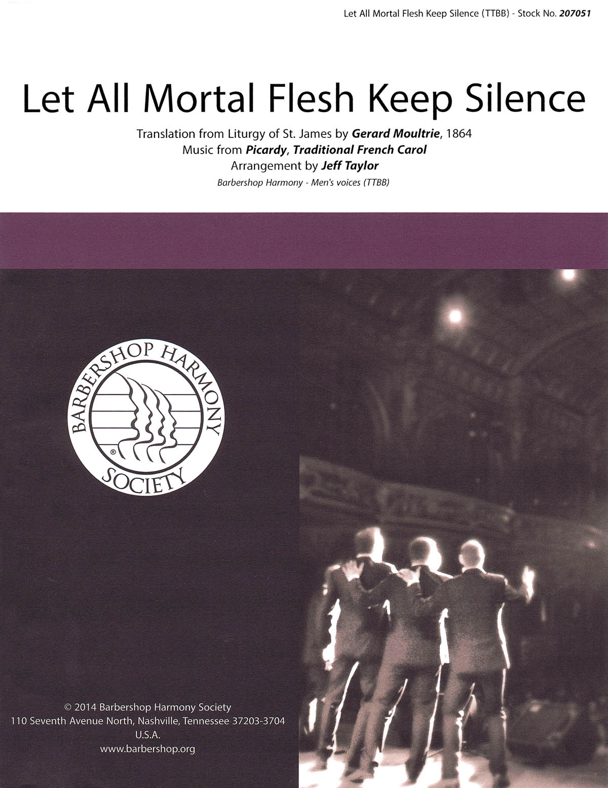 Let All Mortal Flesh Keep Silence : TTBB : Jeff Taylor : Sheet Music : 00155685 : 812817020986