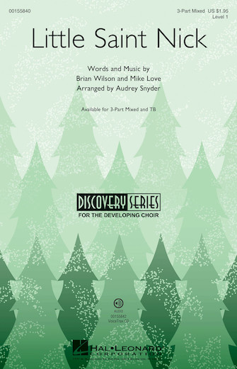 Little Saint Nick : 3-Part : Audrey Snyder : Brian Wilson : The Beach Boys : Sheet Music : 00155840 : 888680602390