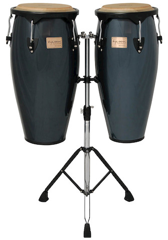 Product Cover for Metallic Blue Supremo Congas With Double Stand