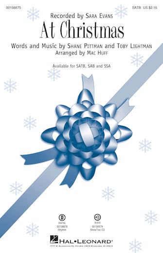 At Christmas : SATB : Mac Huff : Sara Evans : Sheet Music : 00156675 : 888680607708