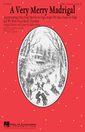 A Very Merry Madrigal : TTBB : Traditional : Traditional : Sheet Music : 00158083 : 888680610739
