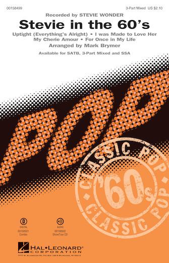 Stevie in the 60s : 3-Part : Mark Brymer : Stevie Wonder : Sheet Music : 00158499 : 888680612696