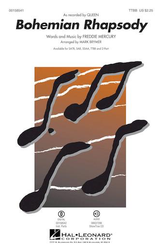 Bohemian Rhapsody : TTBB : Mark Brymer : Freddie Mercury : Queen : Sheet Music : 00158541 : 888680612900