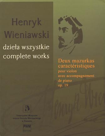 Product Cover for Deux mazurkas caractéristiques pour violon, op. 19