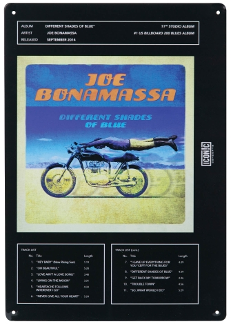 Product Cover for Joe Bonamassa Tin Sign – Different Shades of Blue