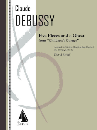 Product Cover for 5 Pieces and a Ghost from Children's Corner: Clarient/Bass Clarinet and String Quartet - Score/Parts