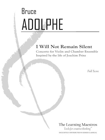 Product Cover for I Will Not Remain Silent: Conerto for Violin and Chamber Ensemble - Full Score