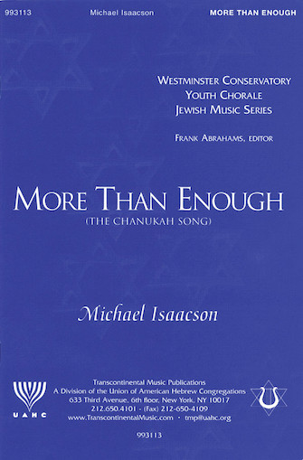 Product Cover for More Than Enough (The Chanukah Song)