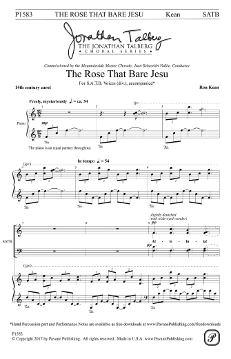 Product Cover for The Rose that Bare Jesu
