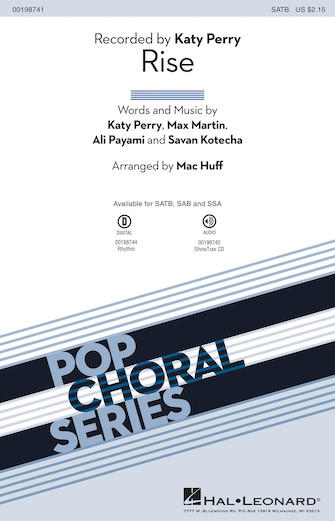 Rise : SATB : Mac Huff : Katy Perry : Katy Perry : Sheet Music : 00198741 : 888680648961