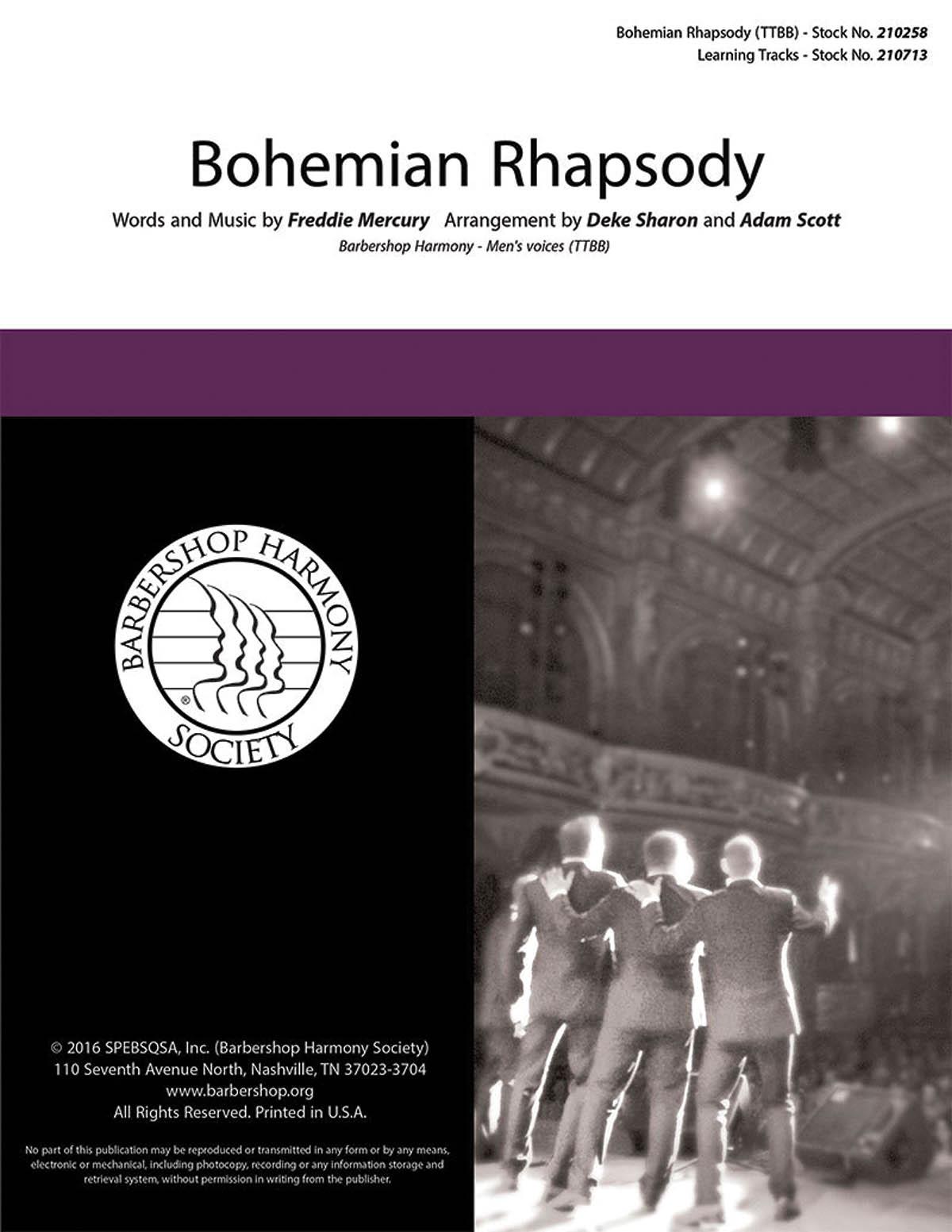 Bohemian Rhapsody : TTBB : Deke Sharon : Freddie Mercury : Storm Front : Sheet Music : 00200659 : 812817021020