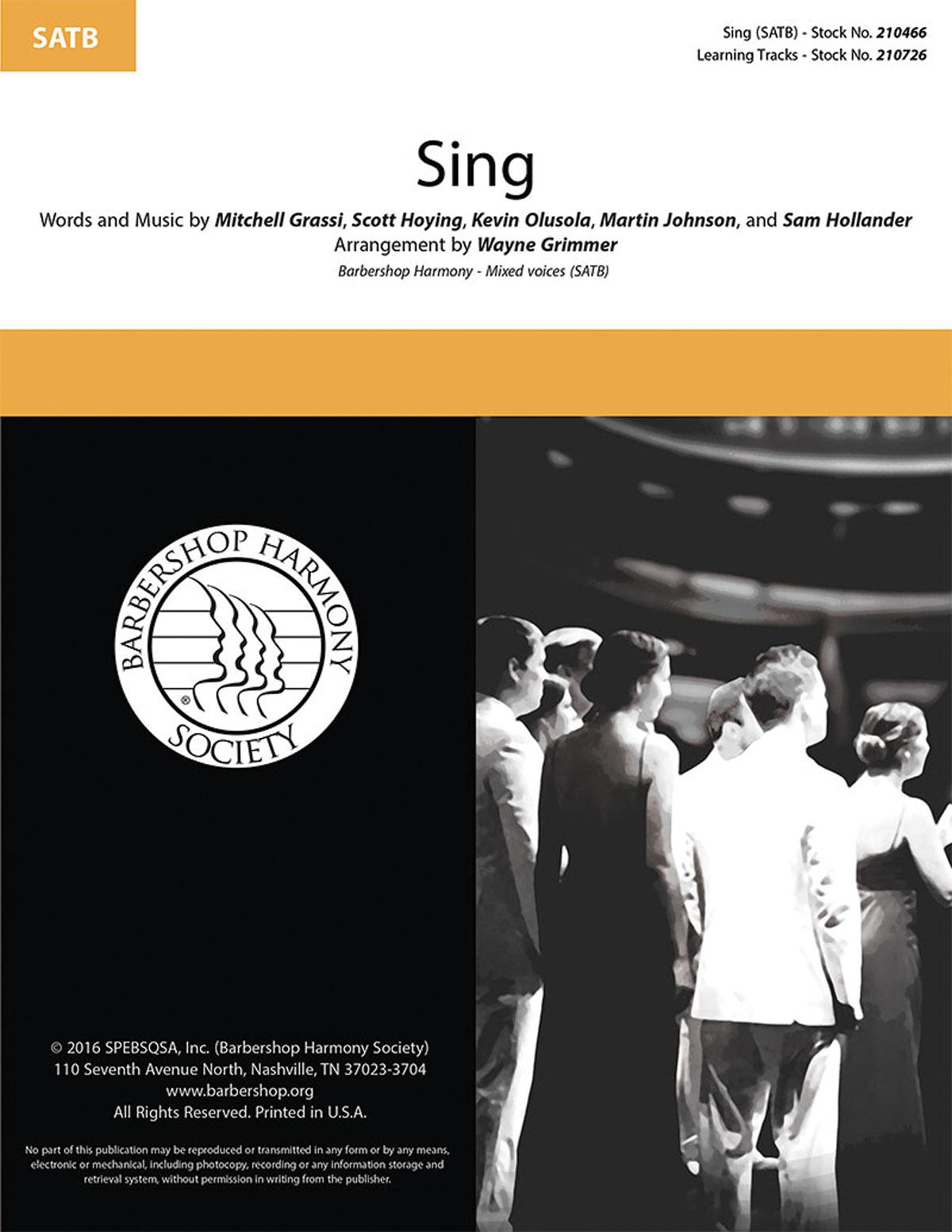Sing : SATB : Wayne Grimmer : Pentatonix : Pope John Paul II Chamber Choir : Sing : Sheet Music : 00200663 : 888680654399