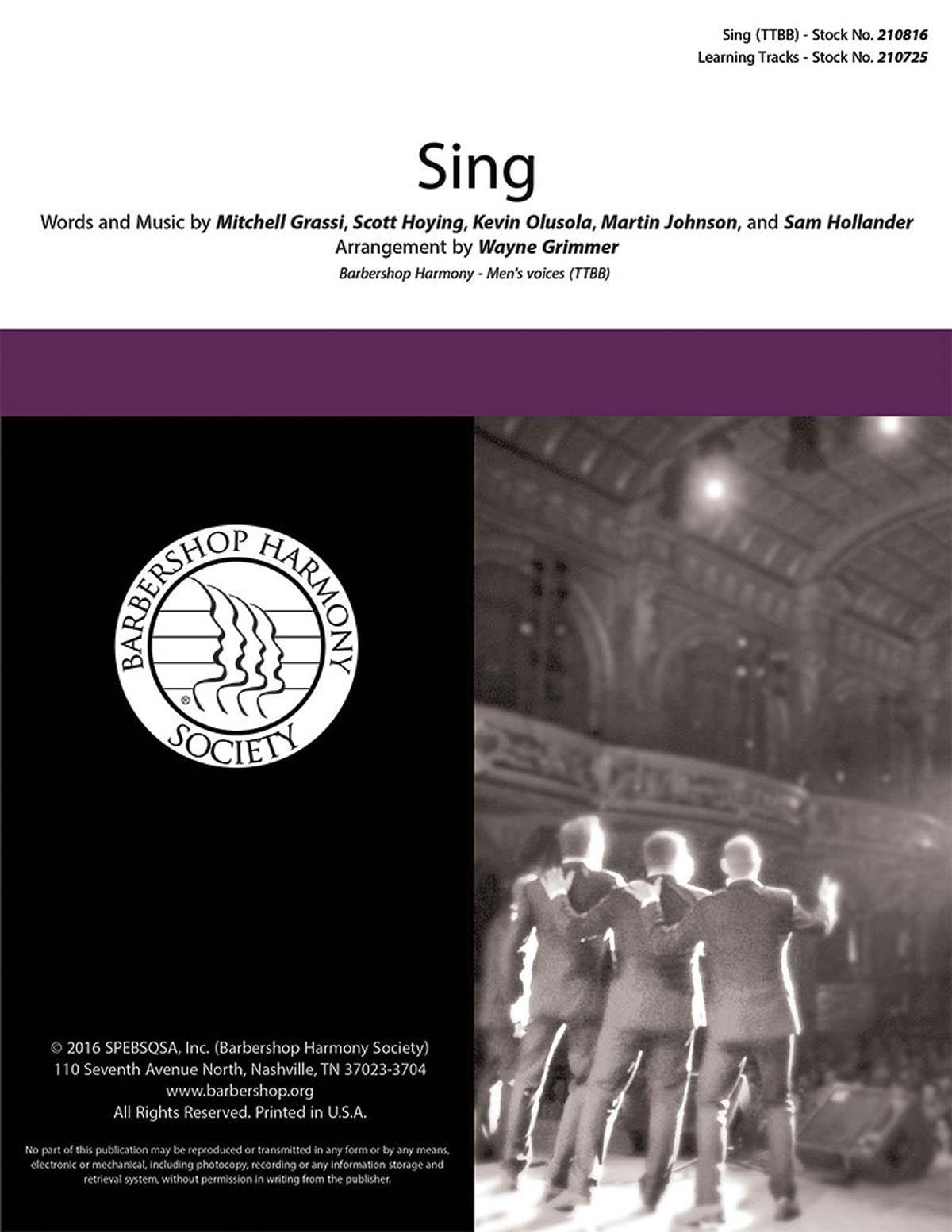 Sing : TTBB : Wayne Grimmer : Pentatonix : Pentatonix : Sing : Sheet Music : 00200666 : 888680655631