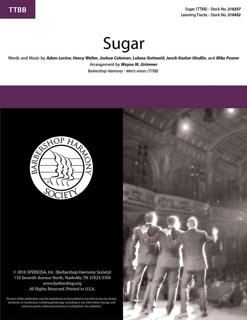 Sugar : TTBB : Wayne Grimmer : Adam Levine : Instant Classic :  1 CD : 00200667 : 888680655815