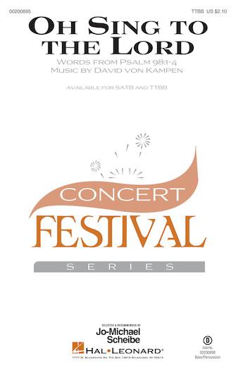 Oh Sing to the Lord : TTBB : David von Kampen : David von Kampen : Sheet Music : 00200895 : 888680652197