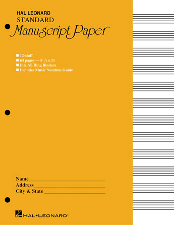 Product Cover for Standard Manuscript Paper ( Yellow Cover)