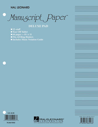 Product Cover for Manuscript Paper (Deluxe Pad)(Blue Cover)