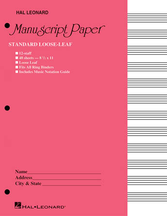 Product Cover for Standard Loose Leaf Manuscript Paper (Pink Cover)